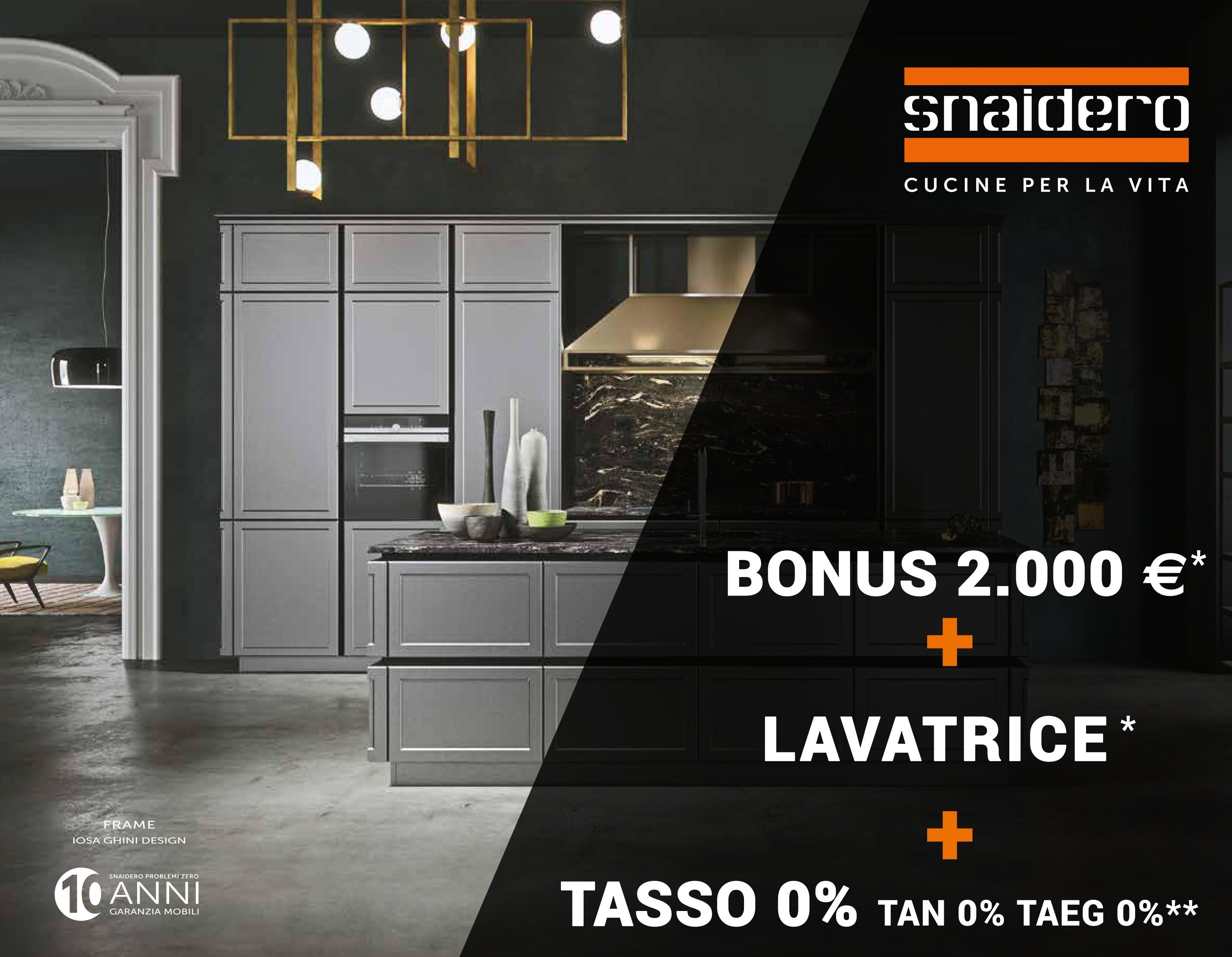 Snaidero bonus 2000 lavatrice cecchini arreda for Cecchini arreda