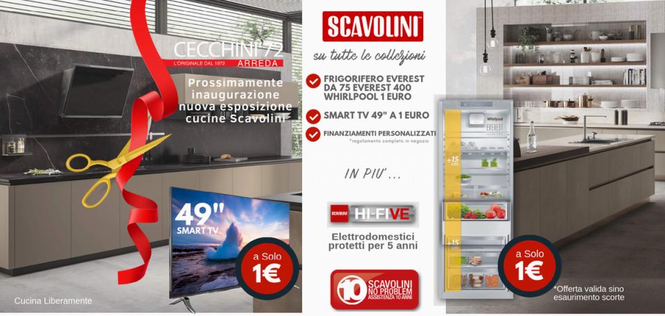 Nuova promozione cucine scavolini cecchini arreda for Cecchini arreda